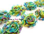 SPRING FLING Shabby Flowers- 1/2 Yard or 1 Yard- Shabby Chiffon Trim- Wholesale Shabby Flowers- Shabby Chic- Shabby Rose Trim