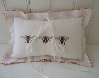 Wedding Ring Pillow Honeybee Wedding Ring Pillow