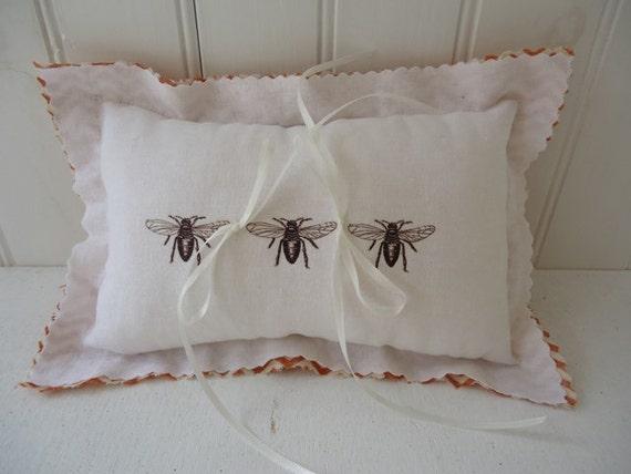 Wedding Ring Pillow Honeybee Wedding Ring Pillow