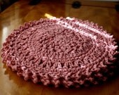 Crochet Dishcloths- Rose