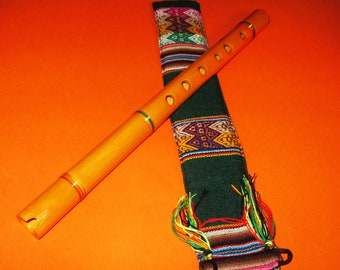 Professional  Natural Flute Quena Amaru Case included
