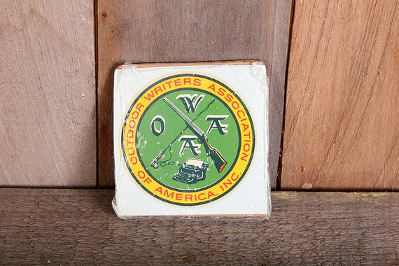 Vintage 1960s Decal Outdoor Writers Association of America OWAA