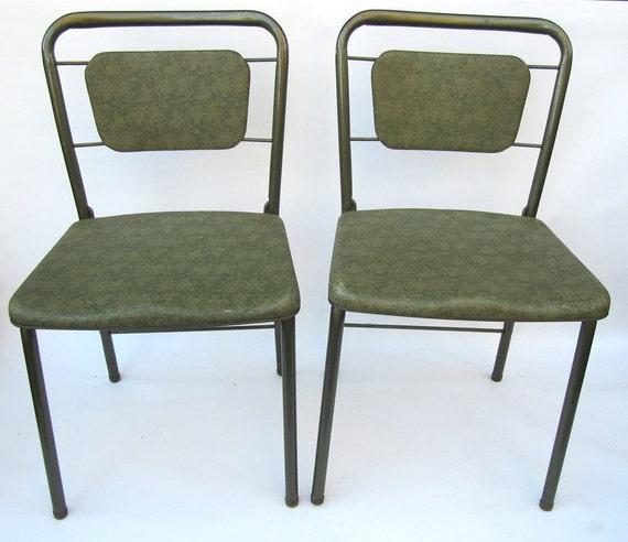 Green Cosco Gate Leg Folding Chairs Set of Four