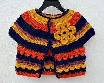 Crochet Urban Girl Cropped Cardi