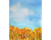 Clouds, Sky and Aspen trees - original work