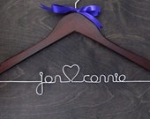 Wedding Hanger, Bridal Hanger, Mrs Hanger, Ribbon Hanger, Dress Hanger, Shower Gift, Bridal Gift, Custom Bridal Hanger