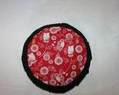 Floral Red Zafu meditation or yoga cushion