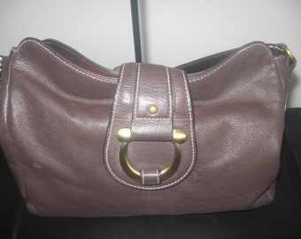 Vintage Chocolate Brown Leather Bag.....Clearance was 30.00