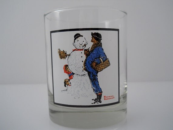 Norman Rockwell Snow Sculpting ACL Arby's Collector Series 4 of 4 c 1979