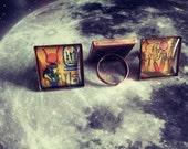 Egyptian style copper colour ring