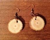 Wood Circle Dangle Earrings