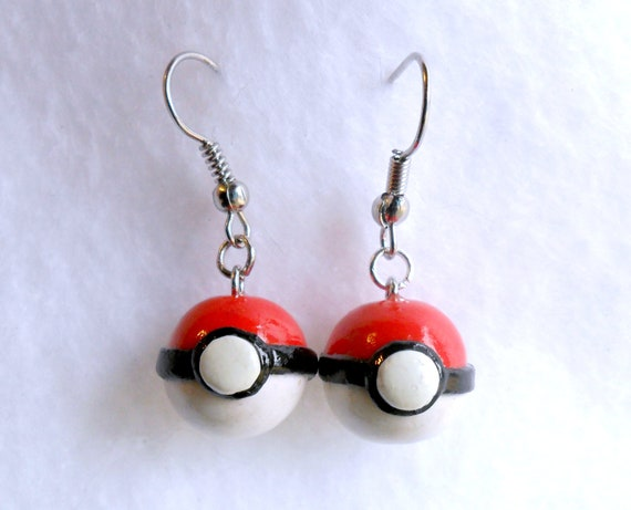 Pokeball Earrings, Gotta Catch Em All :D