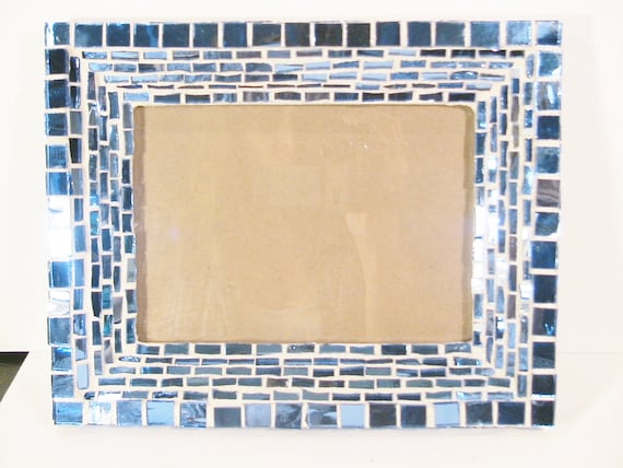 Mosaic Blue Mirror Tile Wall Picture Frame For By