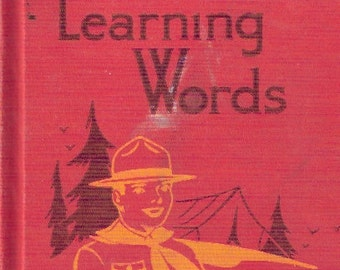 Learning Words Childrens School Book Level 6 Illustrated 1954.