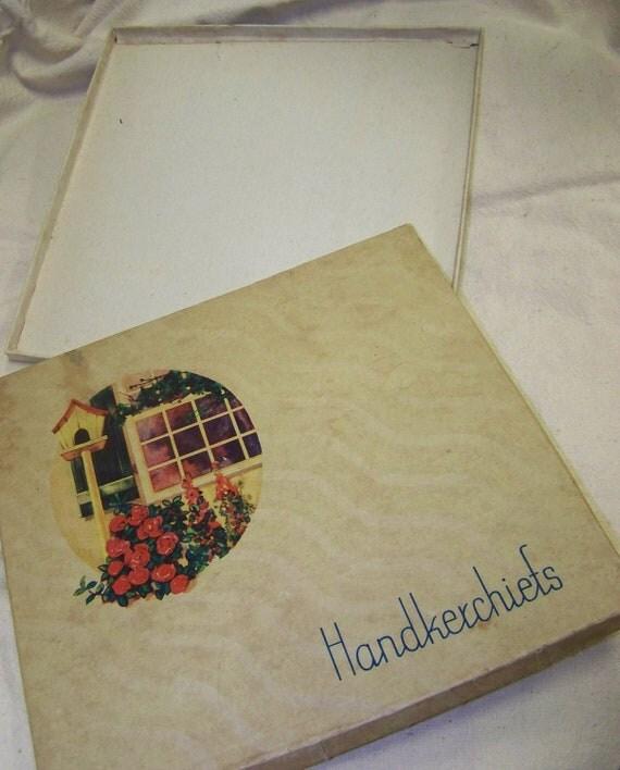 vintage handkerchief box