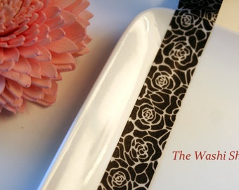 Black Flower Washi Tape-The Washi Shop