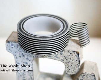Black Stripe Washi Tape