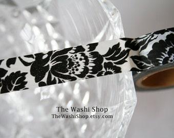 Black Flower Washi Tape