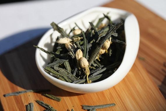 Green Tea - Organic Jasmine Melon Seed Loose Leaf Tea Premium Level NET 1.1 Oz. /30 grams