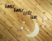 Twinkle Twinkle Little Star -  Glow in the Dark - Children's Room Decor - Metal Wall Art by PrecisionCut