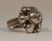 vintage tribal silver ring from Afghanistan