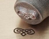 6mm ImpressArt Flourish C Design Stamp, Marde Gras Mask Design Stamp, Halloween Mask Design Stamp, leather, clay, jewelry, stamping tools