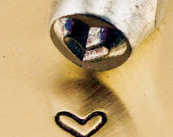 ImpressArt 3mm Whimsy Heart Design Stamp, Tiny Whimsical Heart Metal Stamp, Small Heart, jewelry Stamps, metal stamps, metal stamping tools