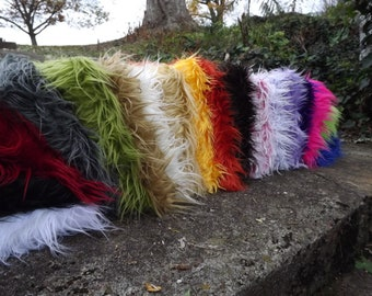 Set of 6 Small Faux Mongolian furs photography prop 20 x 18, pick your color