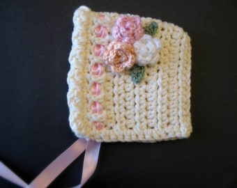 Baby Bonnet - antique rose