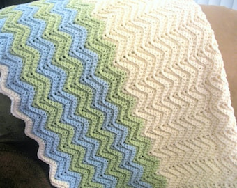 Chevron Ripple Baby Blanket