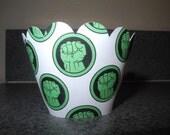 Incredible Hulk Inspired Cupcake Wrappers   Disney Marvel    Hulk  Iron Man Captain America