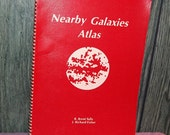 Vintage Book,  Nearby Galaxies Atlas,  Charts, Stars, Unusual, Don't Leave Earth without it.