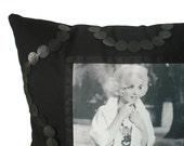 Marilyn Monroe - Decorative Throw Pillow - Home Accessory - Handmade - Black & White