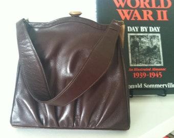 SALE.. Vintage Oxblood Handbag