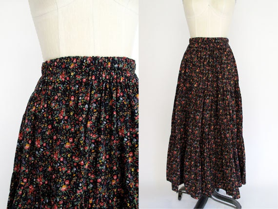 Ditzy tiered skirt / vintage Skirt