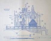 Walt Disney World Haunted Mansion South Elevation Blueprint