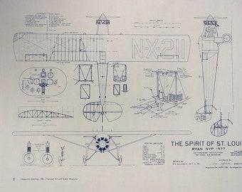 Charles Lindbergh's Spirit of St. Louis Blueprint