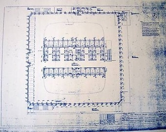 1st Floor Of the World Trade Center Blueprint
