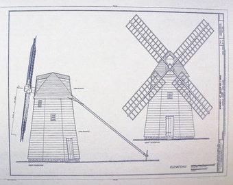 Water Mill Windmill Blueprint