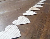 5 ft of Book Page Heart Garland