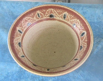 Vintage Pottery Bowl Southwestern Chili Salsa Rustic Mexican Native American Southwest