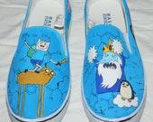 Adventure Time Print Canvas Shoes