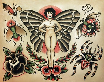 Insect and Bugs Traditional Tattoo Designs