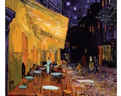 Impressionism- Impresionist- Van gogh cafe terrace at night print, original, prints illustration, van gogh cafe di notte, original art