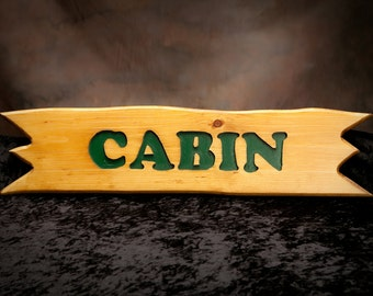 Carved Rustic Cabin Sign, Adirondack Sign, Camp Sign
