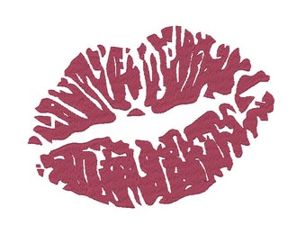 Lipstick Kiss Embroidery Design