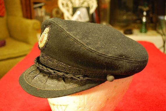 Steampunk Pilots Cap Captains Hat Greek Fisherman