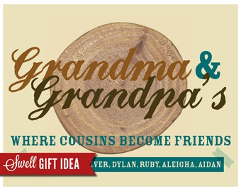 PRINTABLE Where Cousins Become Friends - Christmas Gift