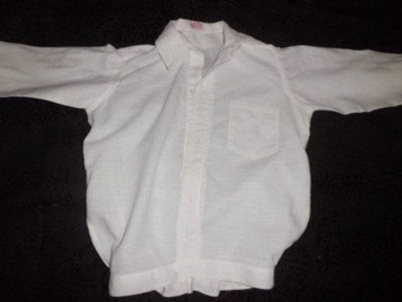 "Antique Child's ""New Era PETER PAN"" SIZE 6 Girls / Boys White Dress Vintage Blouse / Shirt"