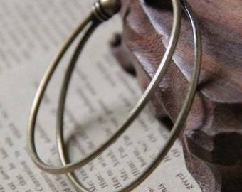 2 pcs of solid  brass cuff bracelet  adjustable 5502-antique bronze